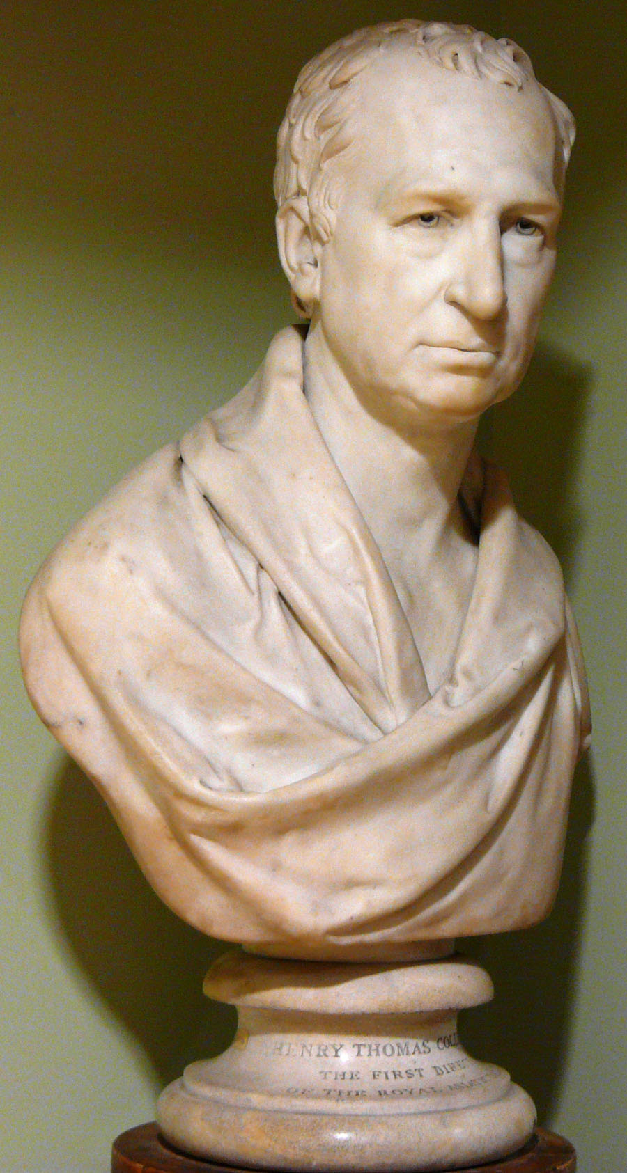 Marble Bust of Henry Thomas Colebrooke by Henry Weekes. Commissioned by RAS, 1837