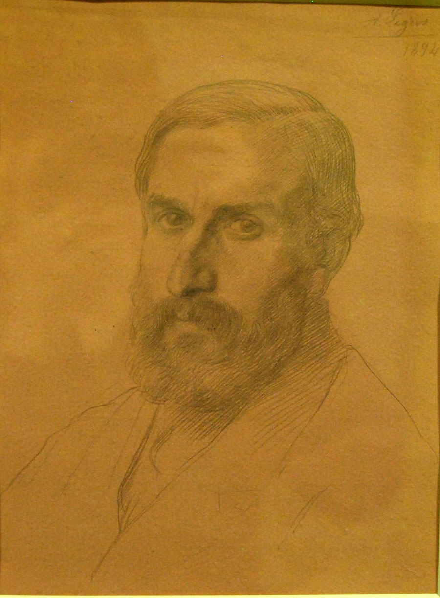Oscar Eckenstein (1859-1921) by Alphonse Legros (RAS Head Catalogue 026.001)