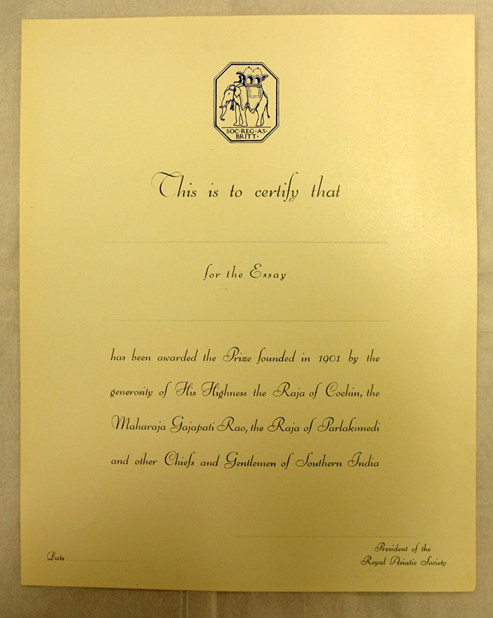 delving into the archives the universities prize essay royal certificate for prize winner