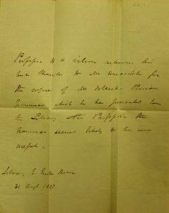 Bernard Quaritch letters