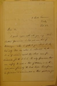 Letter from Max Müller