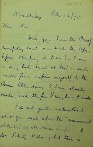 Letter from Edward Fitzgerald
