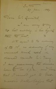Letter from Herbert Allen Giles