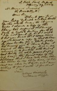 Letter from James Legge