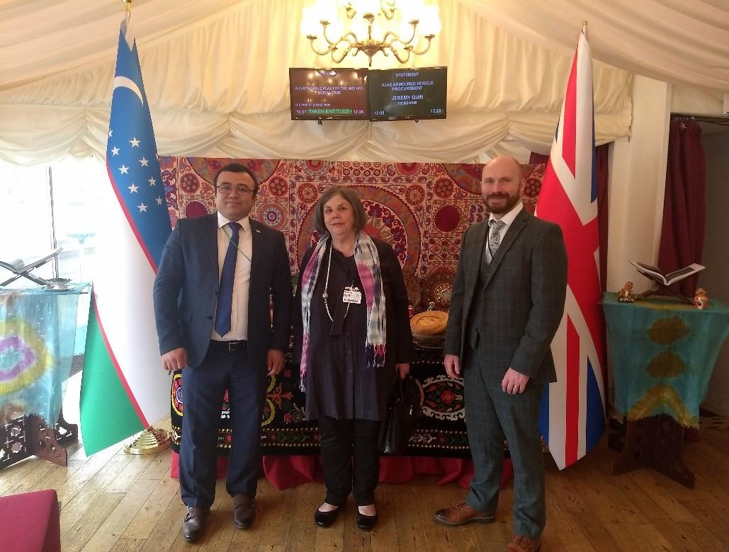 Image of staff at Uzbekistan reception